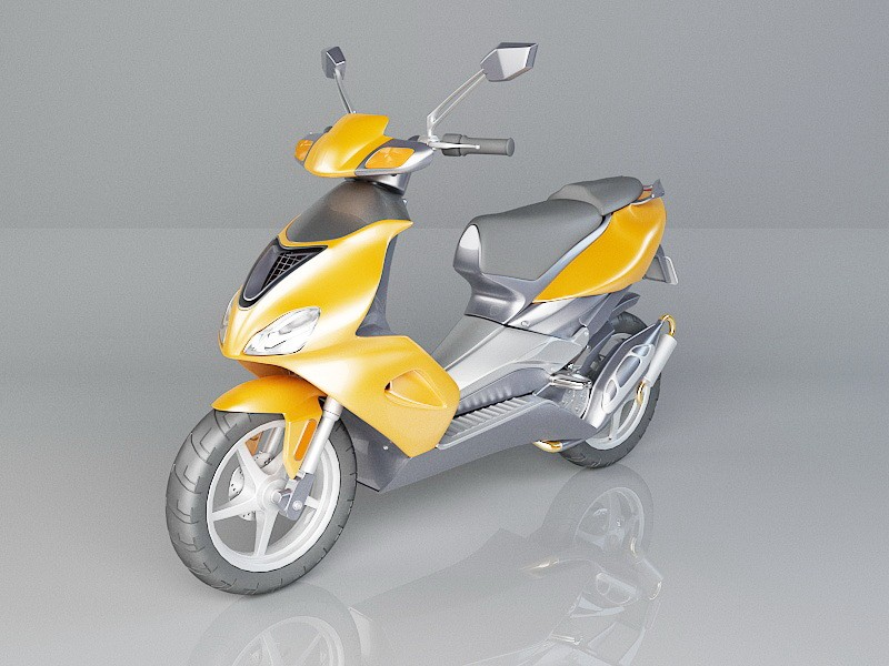 Sport Moped 3d rendering