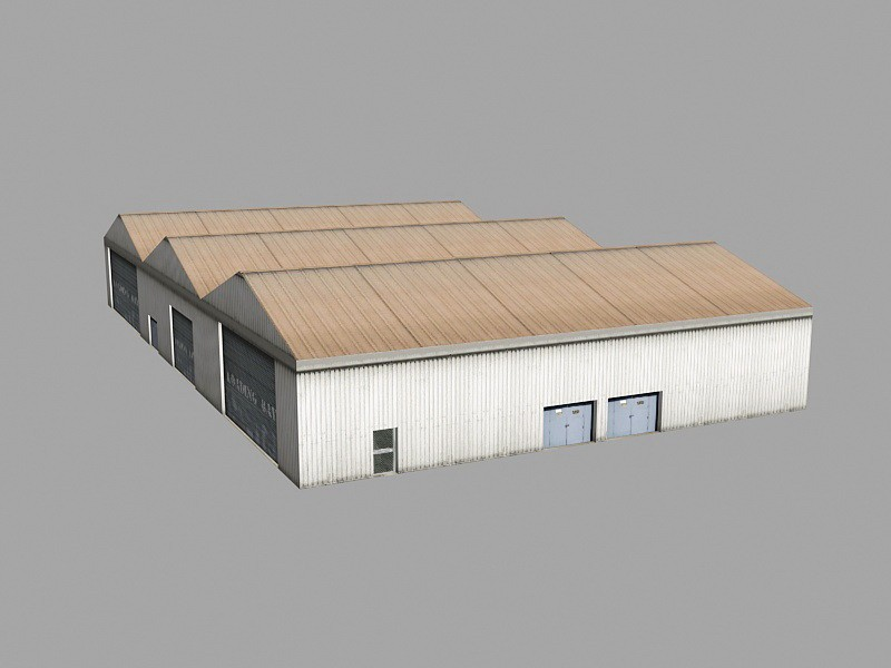 Commercial Warehouse 3d rendering