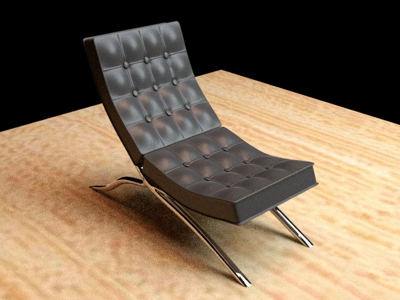 Barcelona Lounge Chair 3d rendering