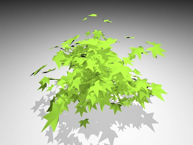 Ivy Bush plant 3d rendering