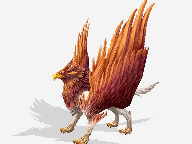Griffon Mythical Creature 3d rendering