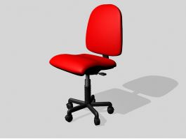 Red Swivel Desk Chair 3d model preview