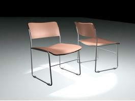 Vintage Metal Patio Chairs 3d preview