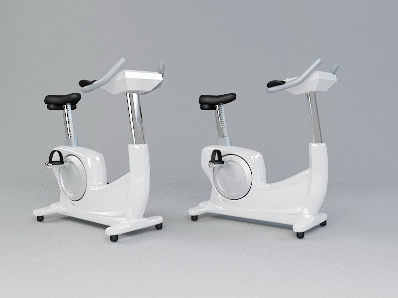 Modern Stationary Bicycles 3d rendering