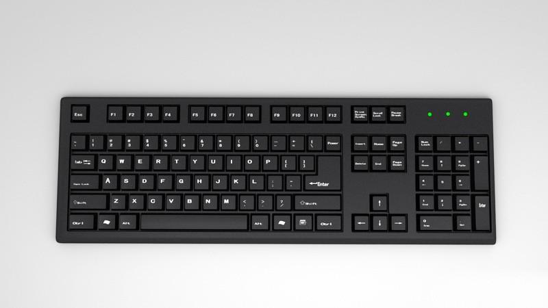 Desktop Computer Keyboard 3d rendering