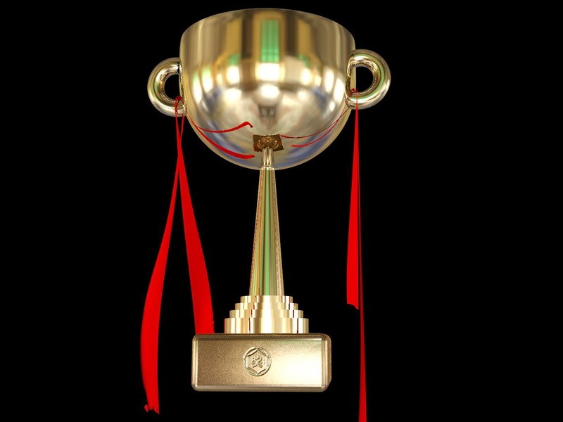 Champion Trophy 3d rendering