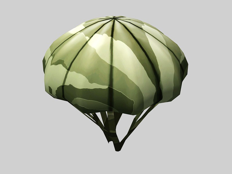 Military Parachute 3d rendering