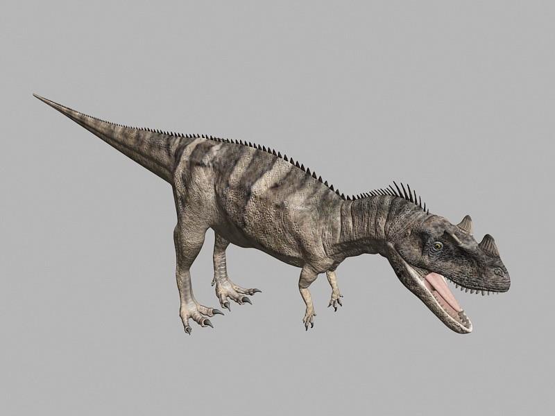 Ceratosaurus Dinosaur Rigged 3d rendering