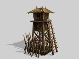 Medieval Guard Tower 3d preview