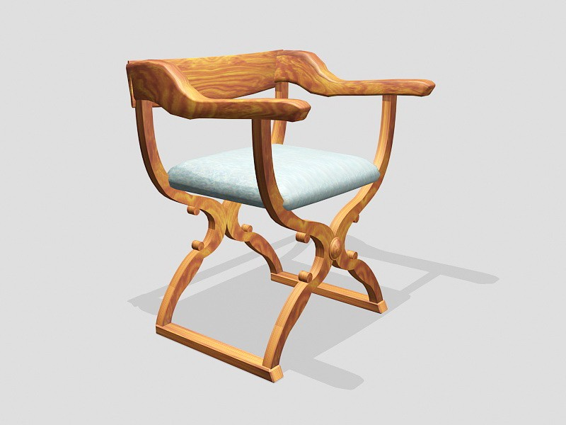 Butterfly Stool with Arms 3d rendering