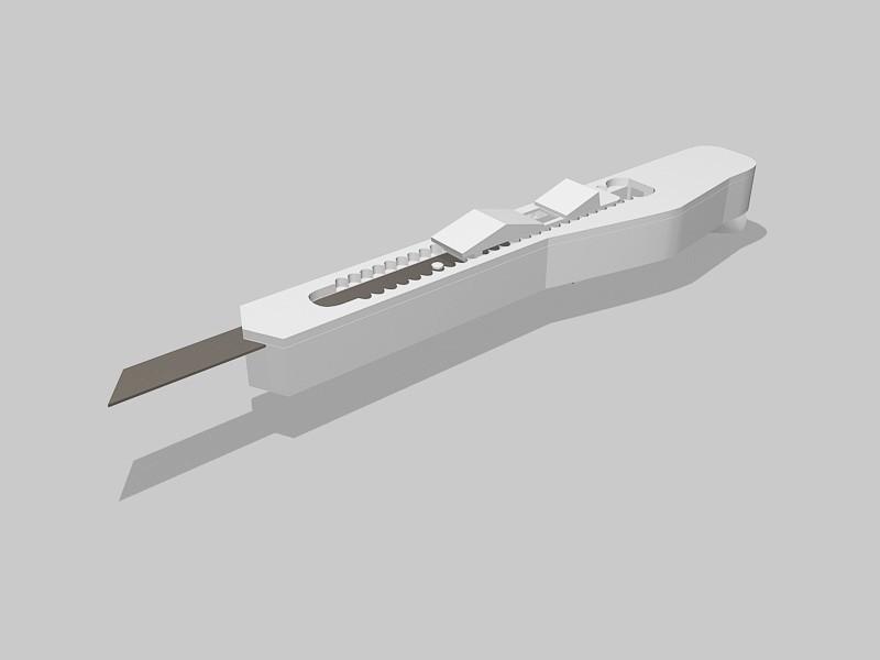 Snap-off blade Utility Knife 3d rendering