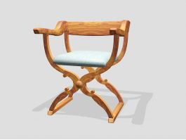 Butterfly Stool with Arms 3d preview