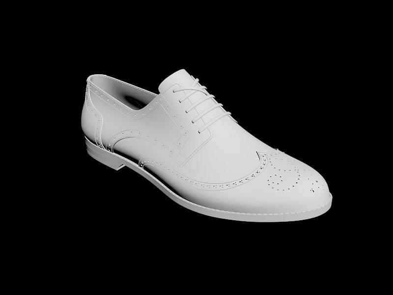 Brogue Shoe 3d rendering