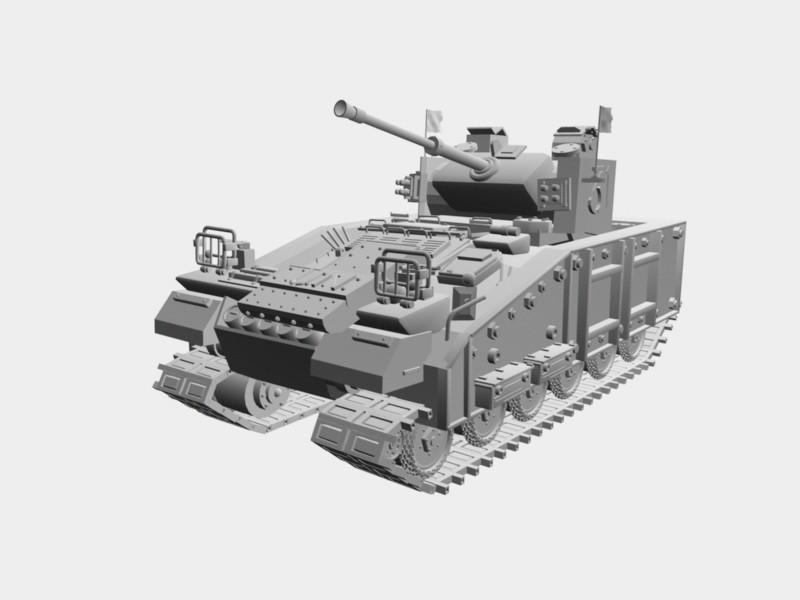 Ultra Heavy Tank 3d rendering