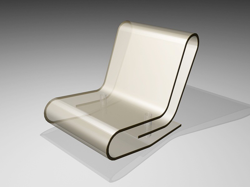Clear Acrylic Panton Chair 3d rendering