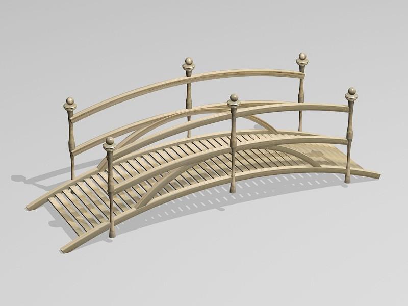 Small Garden Bridge 3d rendering