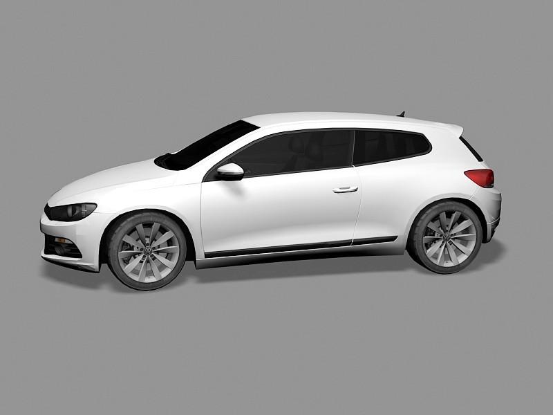 Volkswagen Scirocco Car 3d rendering