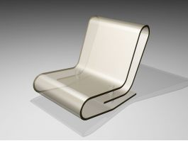 Clear Acrylic Panton Chair 3d preview