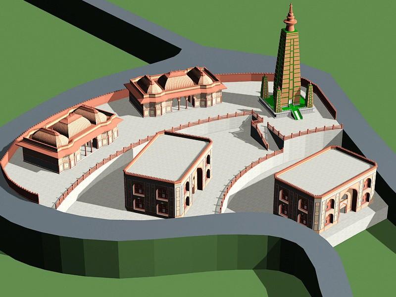 Ancient Persian Temple 3d rendering