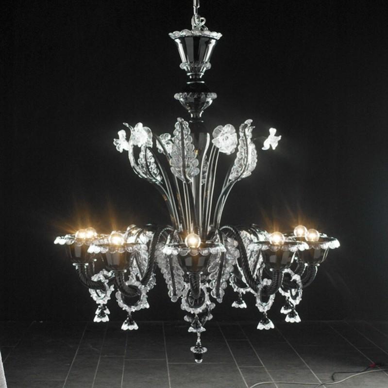 Vintage French Crystal Chandelier 3d rendering