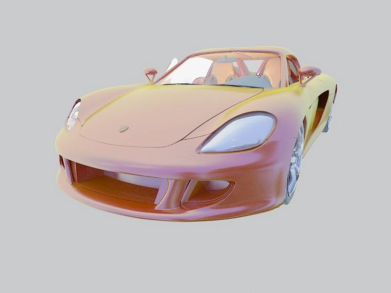 Modern Supercar 3d rendering
