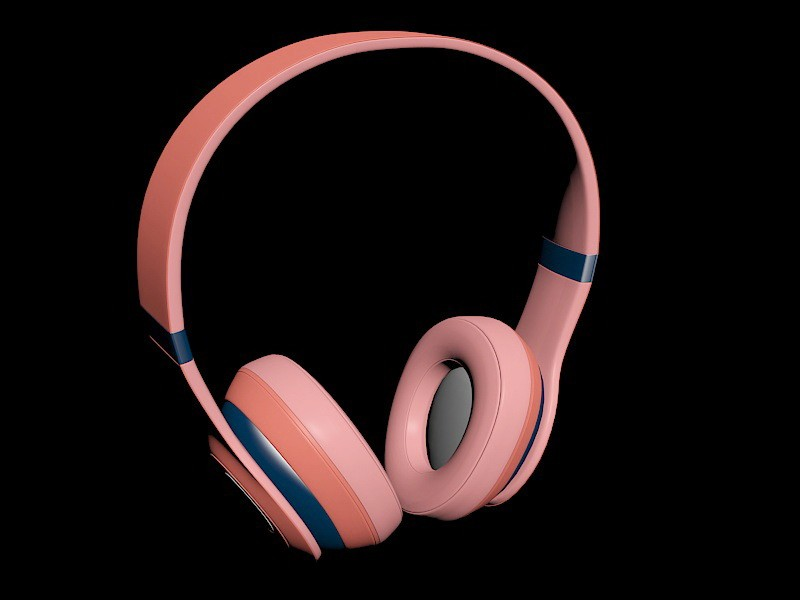 Beats Wireless Headphones 3d rendering