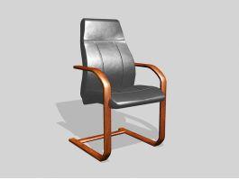 Wooden Desk Chair 3d model preview