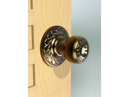 Ornate Brass Door Knob 3d preview