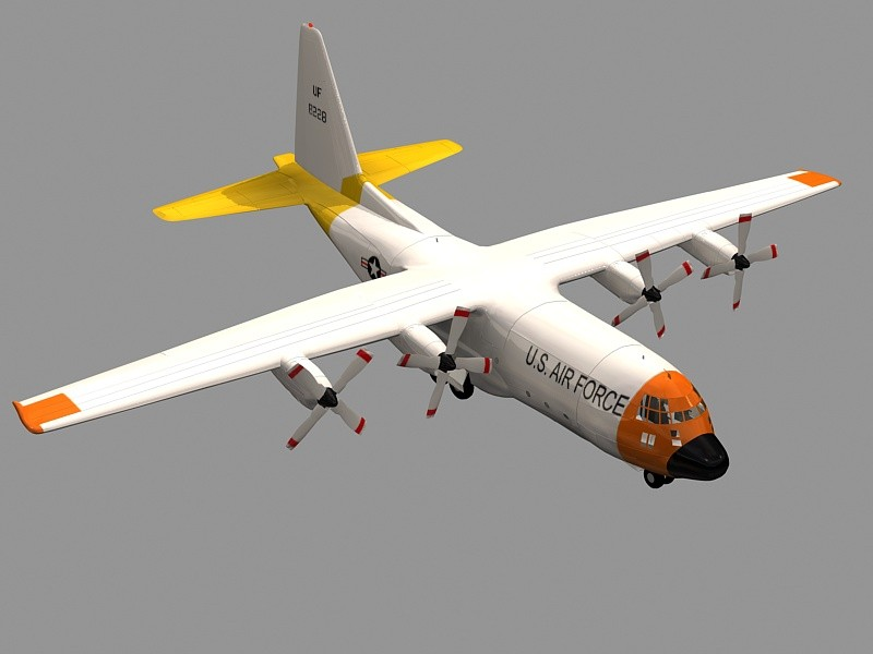 US Coast Guard HC-130 Aircraft 3d rendering
