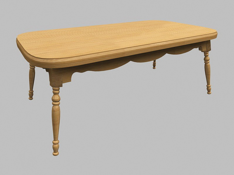 Windsor Dining Table 3d rendering