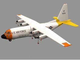 US Coast Guard HC-130 Aircraft 3d preview
