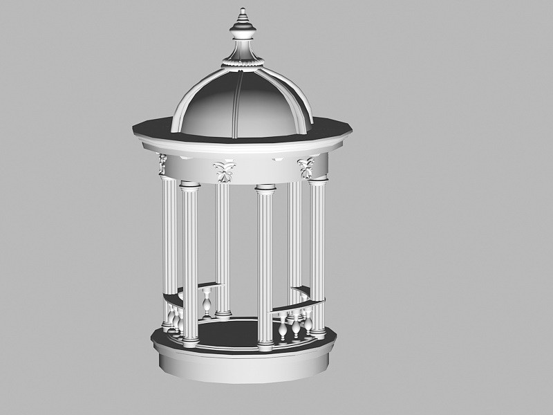 Roman Pavilion 3d rendering