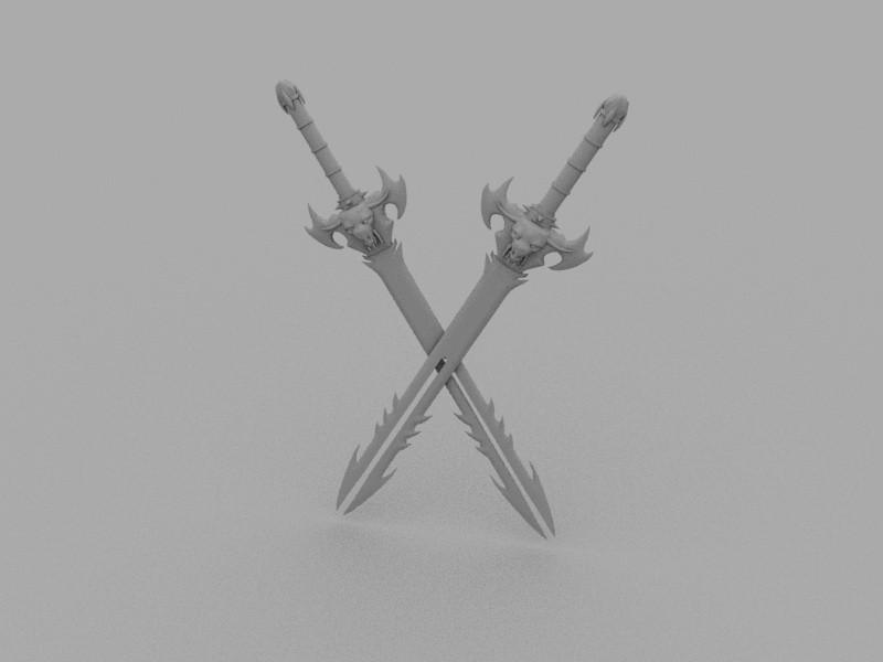 Orc Sword 3d rendering