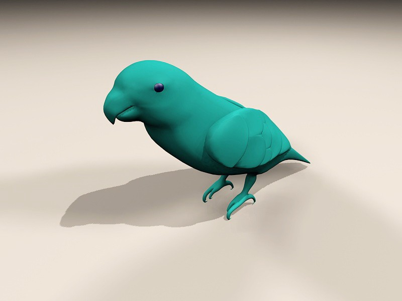 Blue Lorikeet Bird 3d rendering