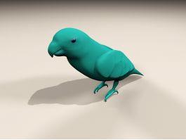 Blue Lorikeet Bird 3d preview