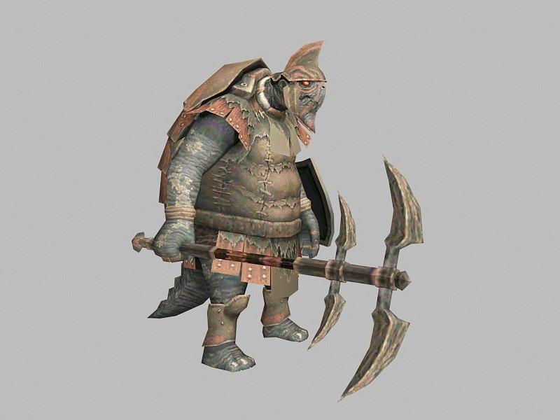 Pangolin Warrior 3d rendering