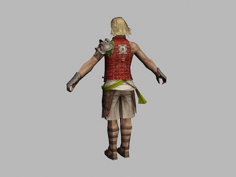 Basch fon Ronsenburg Final Fantasy 3d rendering