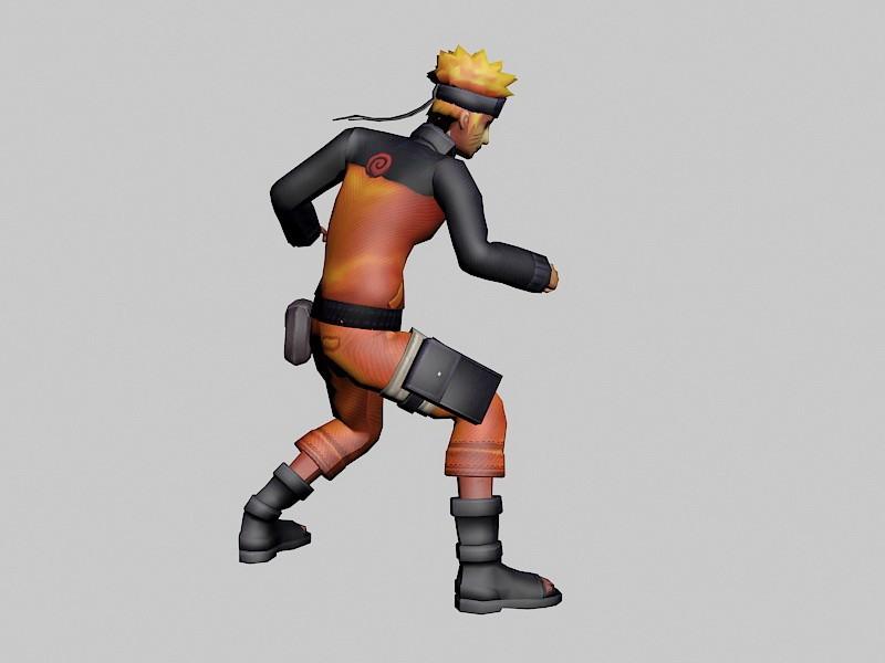 Naruto Uzumaki 3d rendering