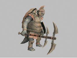 Pangolin Warrior 3d preview
