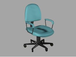 Blue Office Chair 3d preview