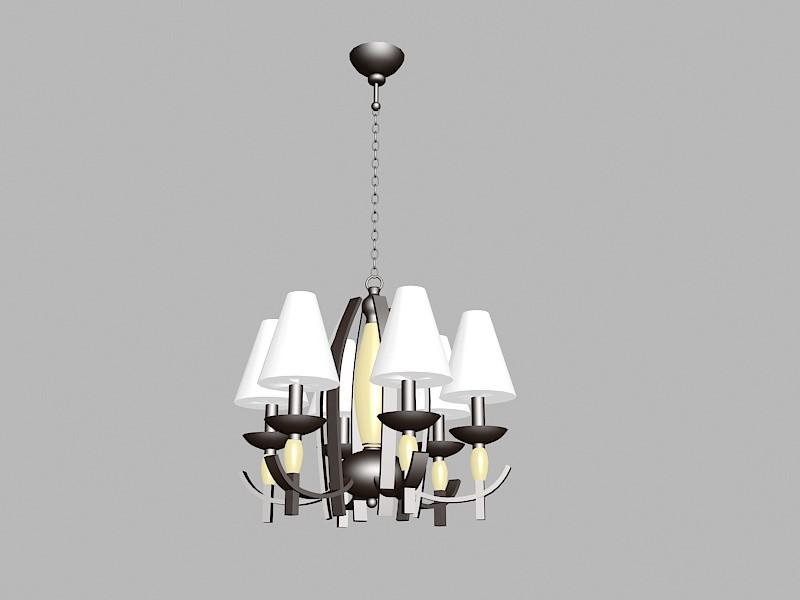 Art Deco Chandelier Lighting Fixtures 3d rendering