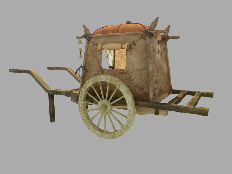 Medieval Horse Carriage 3d rendering