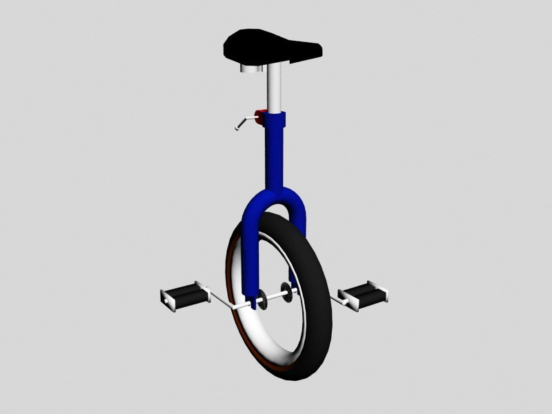Old Unicycle 3d rendering