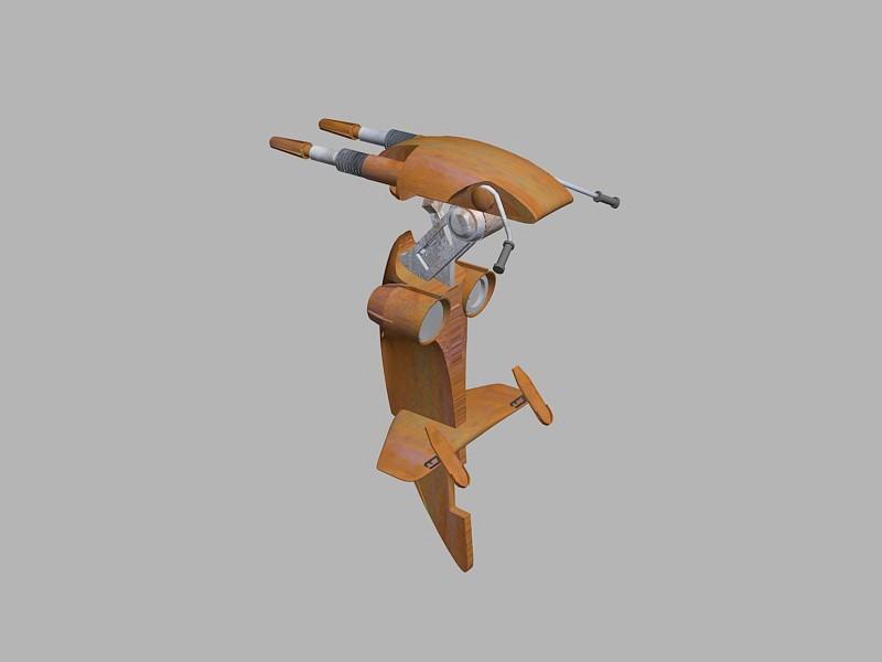 Star Wars Stap 3d rendering