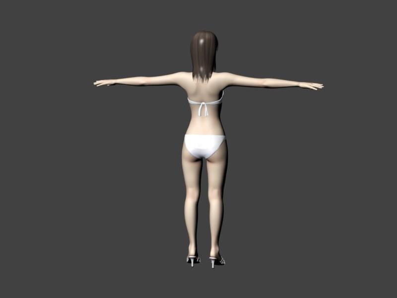 Hot Bikini Girl 3d rendering