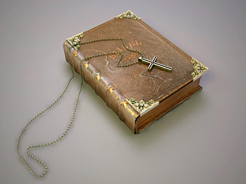 Bible And Cross 3d rendering