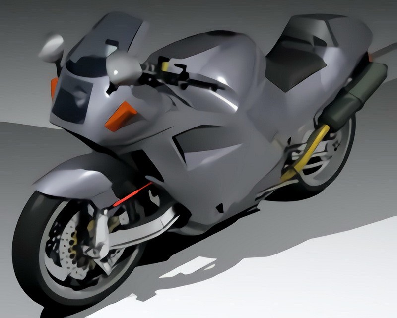 Bimota DB8 Sport Bike 3d rendering