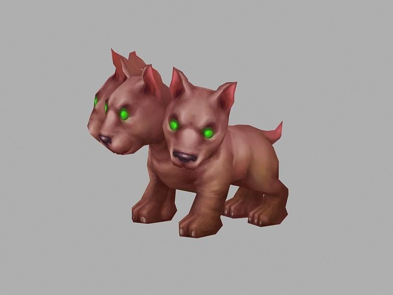 Cerberus Puppy 3d rendering