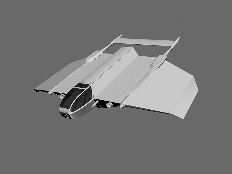 Star Wars Cloakshape Fighter 3d rendering