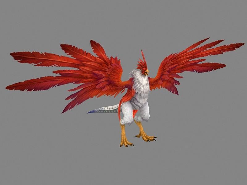 Cockatrice Creature 3d rendering